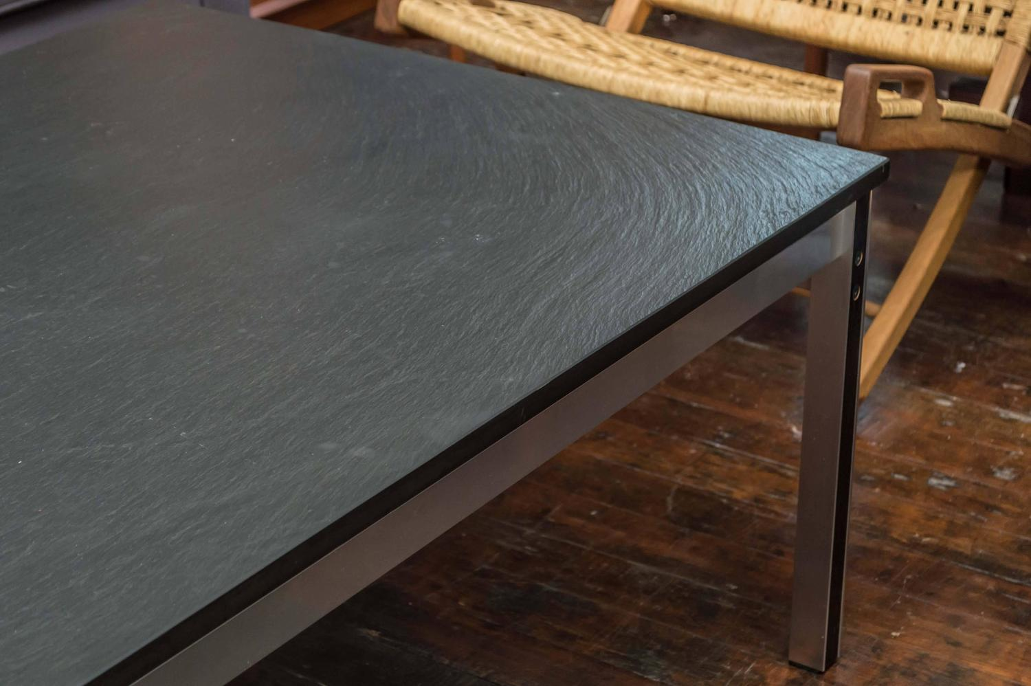 Danish Slate Top Coffee Table For Sale At 1stdibs