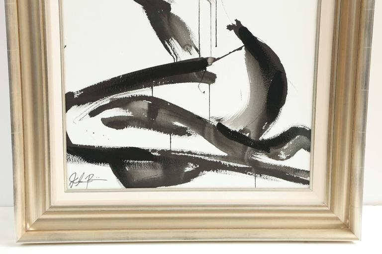 Nude Painting by Jenna Snyder-Phillips, No Frame Included, Sumi Ink, USA In Excellent Condition For Sale In New York, NY