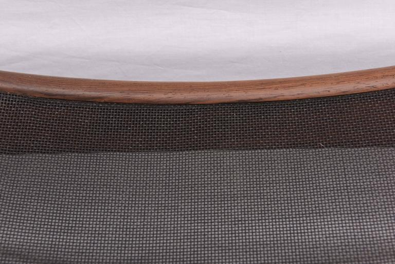 Danish Walnut Footstool or Ottoman, 1960s, Denmark For Sale 1