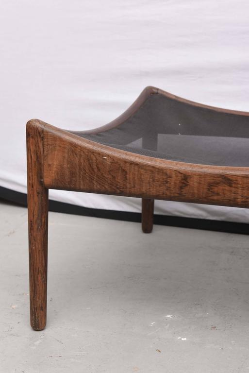 Danish Walnut Footstool or Ottoman, 1960s, Denmark For Sale 3