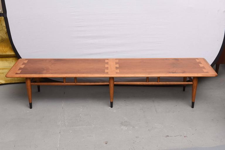 Red Extra Long Lane Inlaid Coffee Table From The Acclaim Series Usa 1960s