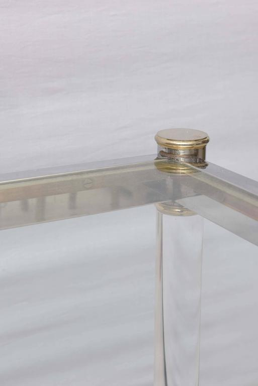 Two-Tone Lucite Side Table in the Style of Maison Jansen 3
