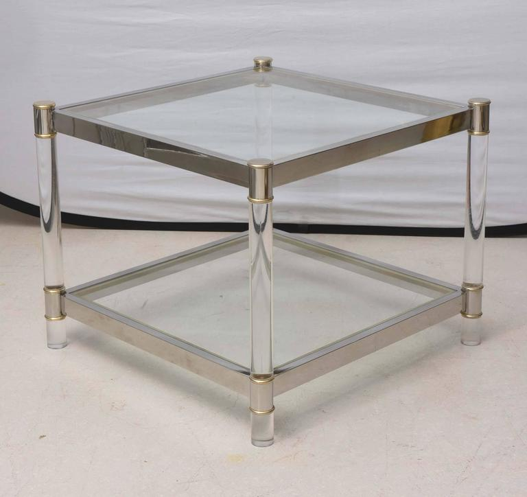 Two-Tone Lucite Side Table in the Style of Maison Jansen 6