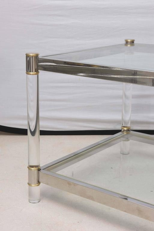Two-Tone Lucite Side Table in the Style of Maison Jansen 7