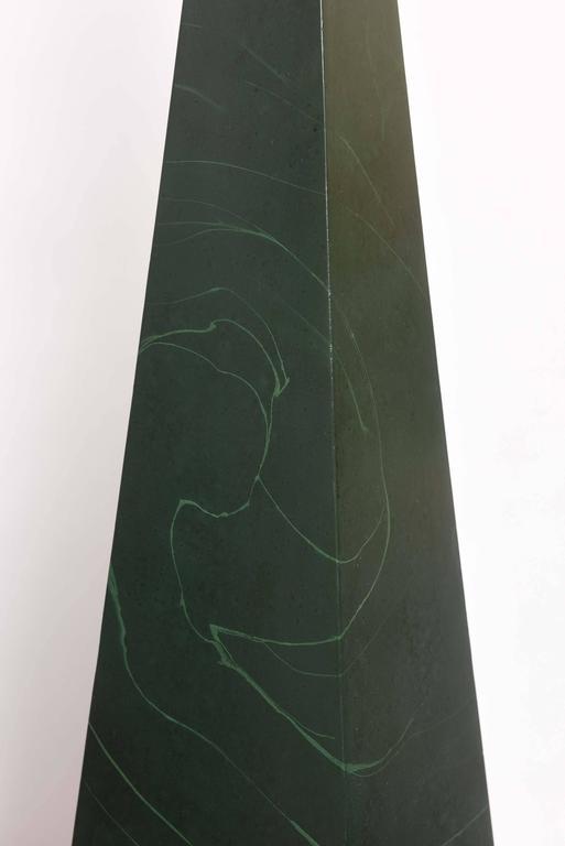 Large Pair of Vintage Wood Obelisks For Sale 1