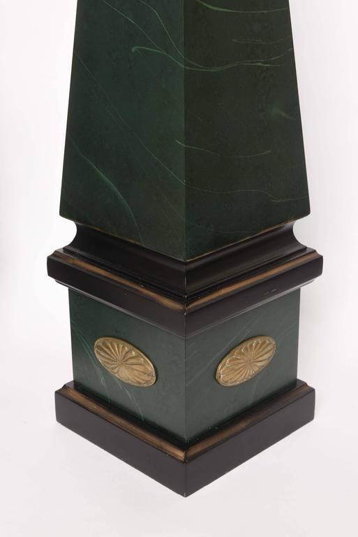 Large Pair of Vintage Wood Obelisks For Sale 4