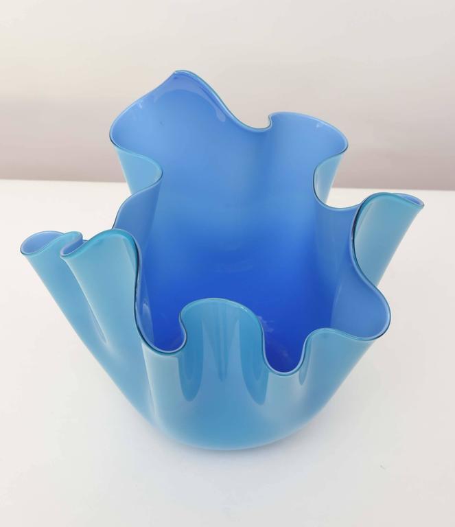 Venini Fazzoletto Bowl In Excellent Condition For Sale In North Miami, FL
