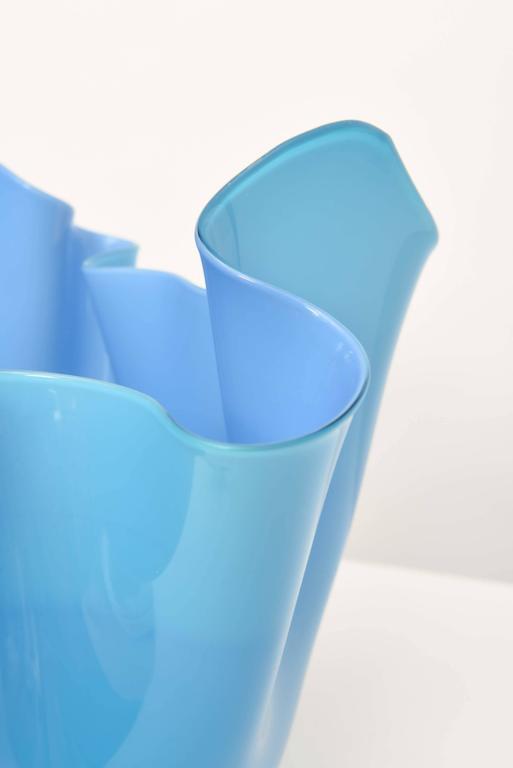 Murano Glass Venini Fazzoletto Bowl For Sale