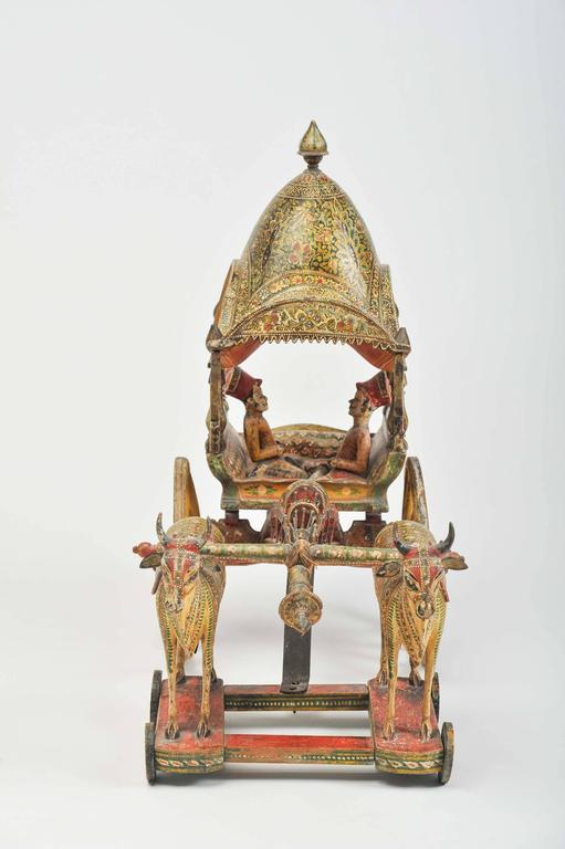 20th Century Toys : Early th century model of ceremonial wagon for sale at