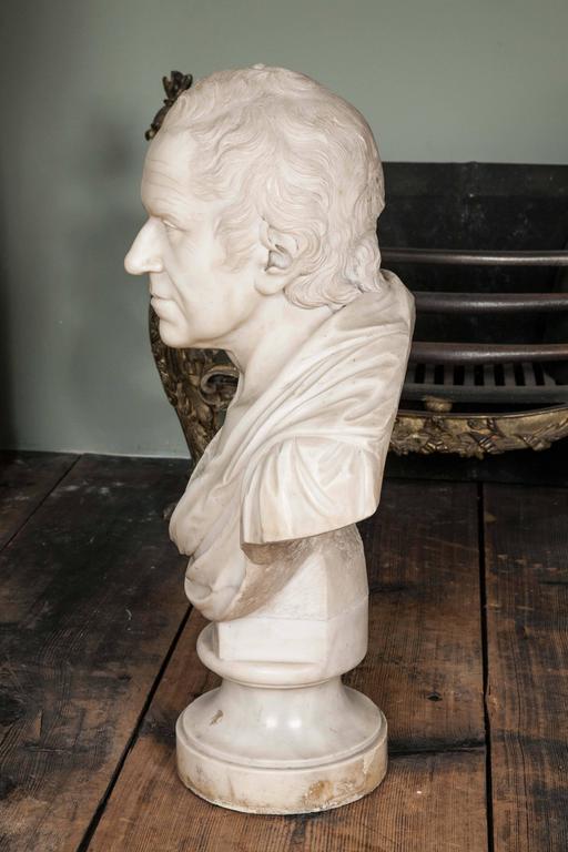 George III Very Fine Grand Tour Bust of an Irish Gentleman For Sale