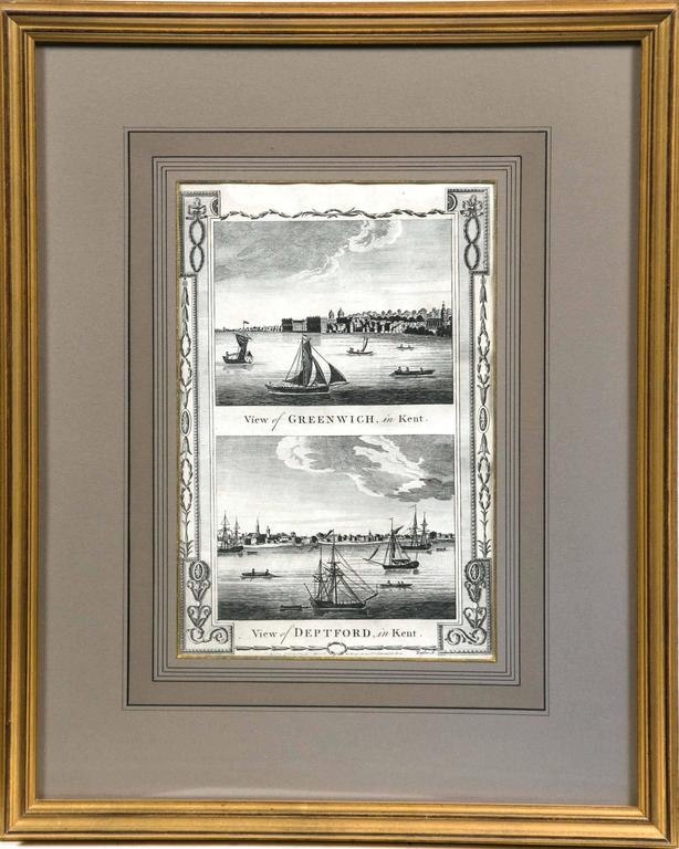 Framed print of English Harbor views, early 19th century,