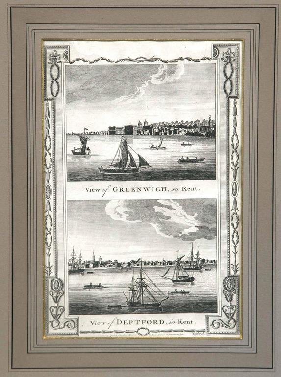 Framed Print, English Harbor Views, Early 19th Century In Good Condition For Sale In Chappaqua, NY