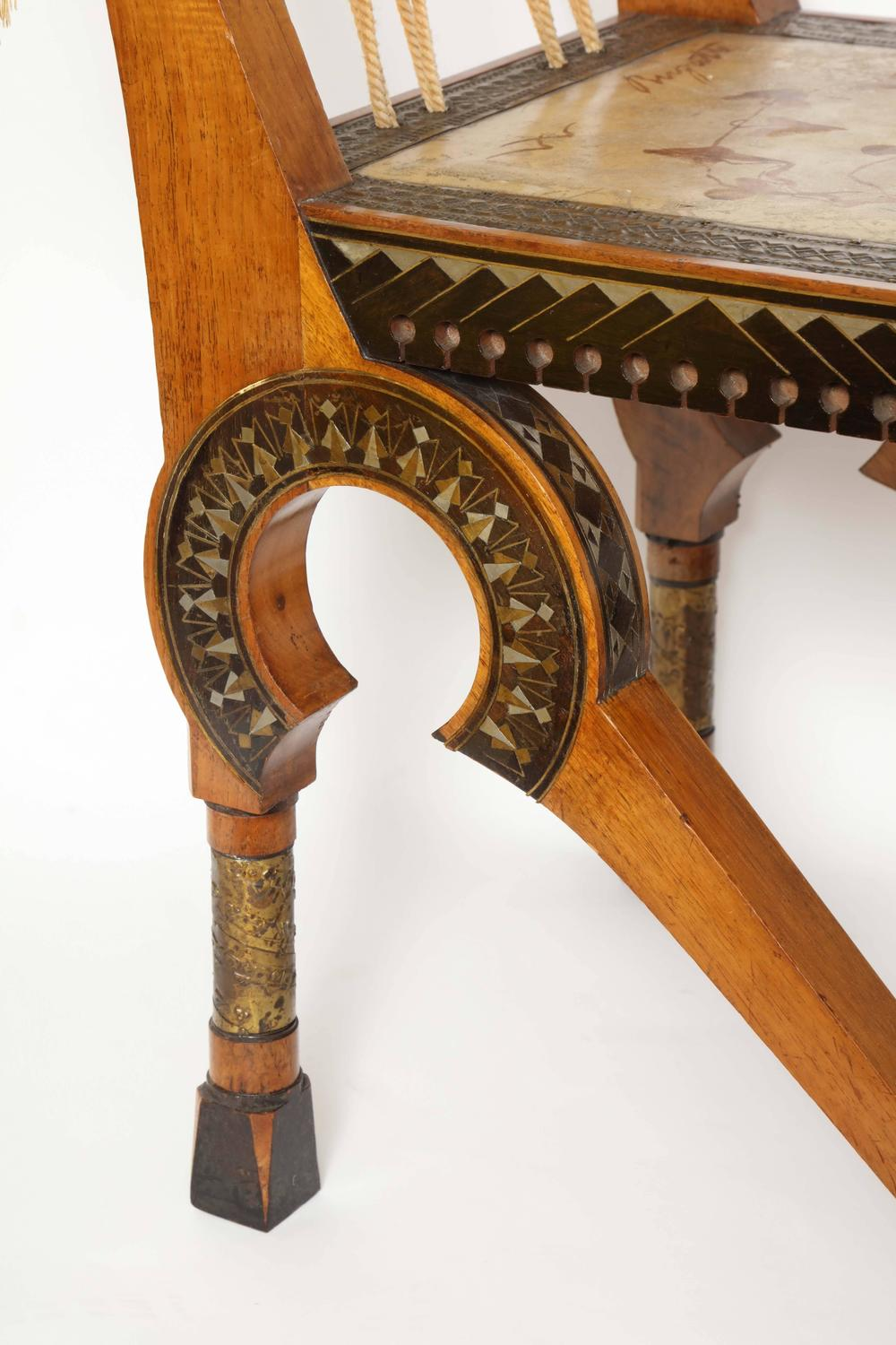 Carlo Bugatti Painted Parchment Inlaid And Hammered Metal Chair Circa 1898 For Sale At 1stdibs