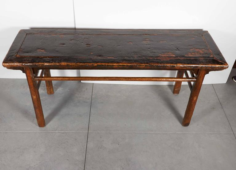 heavily lacquered rustic antique painting table for sale at 1stdibs