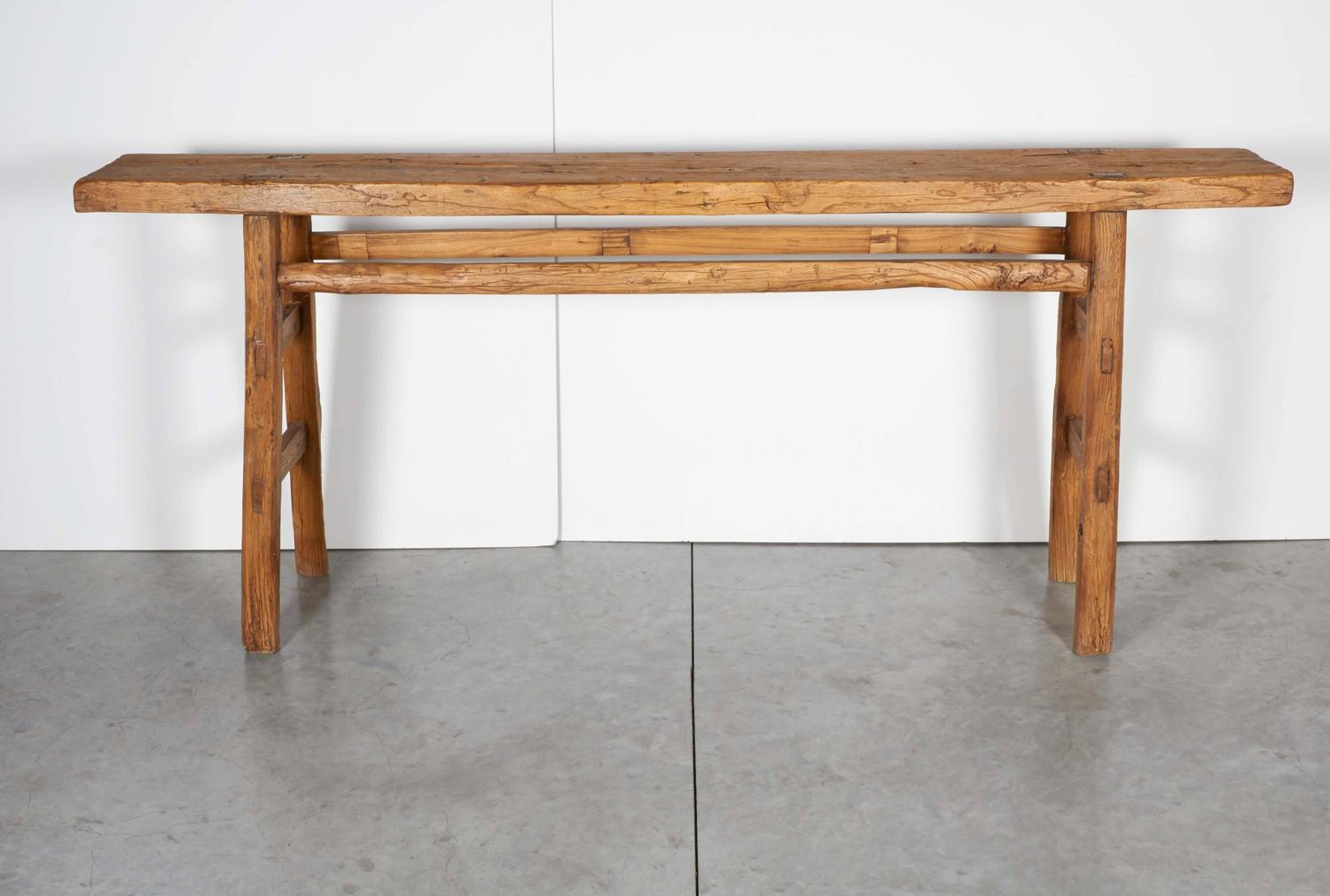 Very Narrow Antique Farm Table at 1stdibs
