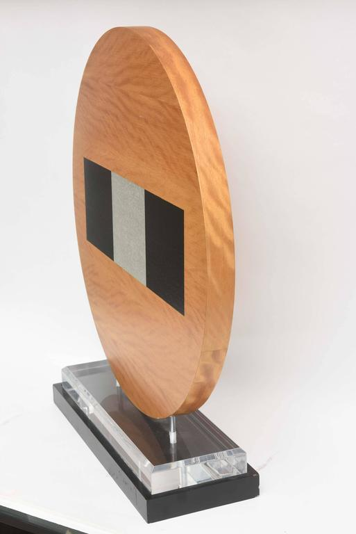 American Wood Sculpture, Mounted on Stand For Sale 3
