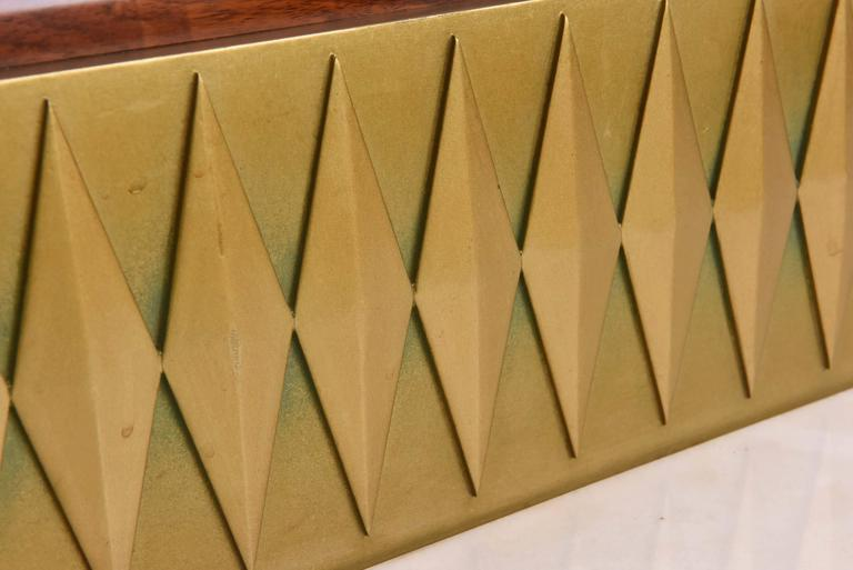 Rare French Modern Mahogany, Bronze and Brass Bar Cabinet, Raphael 6
