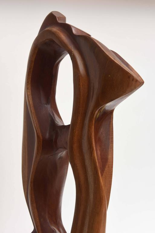 Abstract expressionist wood sculpture raul varnerin for