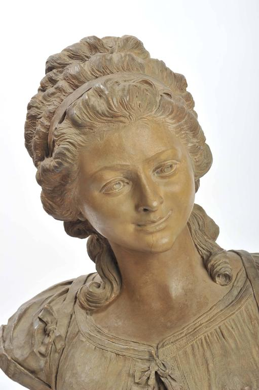 19th Century French Terracotta Bust In Good Condition For Sale In Brighton, Sussex