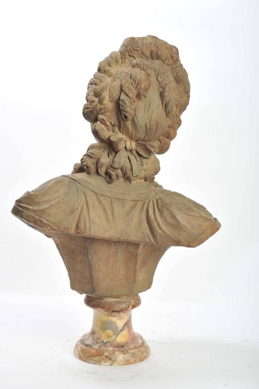 19th Century French Terracotta Bust For Sale 2