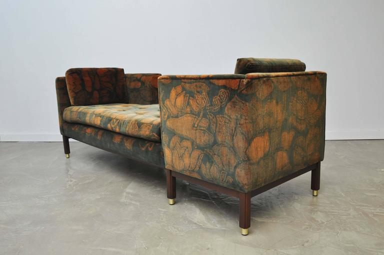 Mid-Century Modern Dunbar Tete-a-tete Sofas by Edward Wormley For Sale