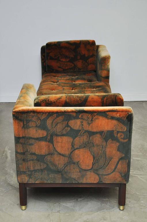 Dunbar Tete-a-tete Sofas by Edward Wormley For Sale 2