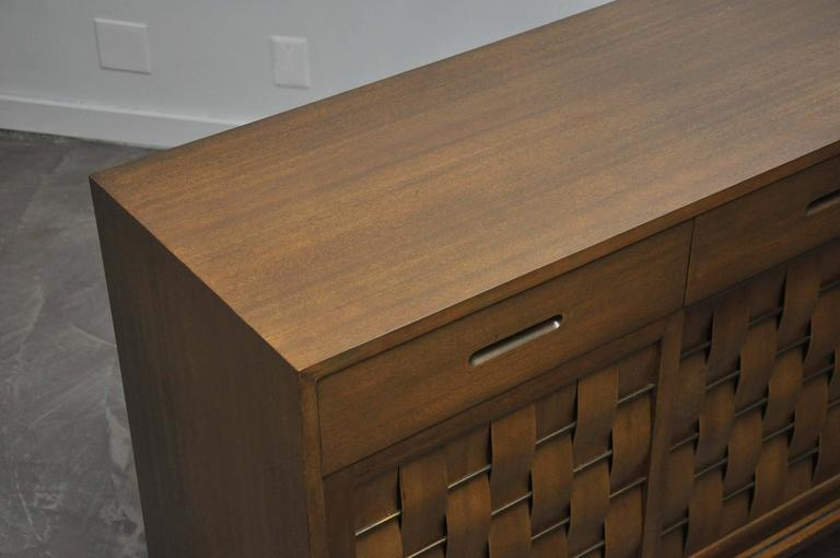 Dunbar Woven Front Credenza by Edward Wormley For Sale 1