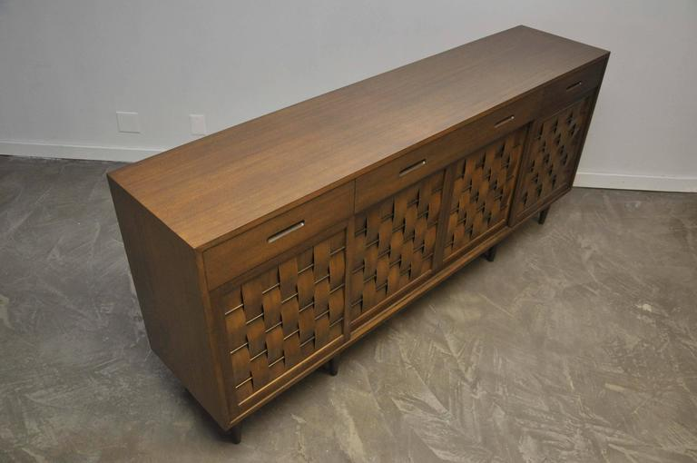 Dunbar Woven Front Credenza by Edward Wormley For Sale 2