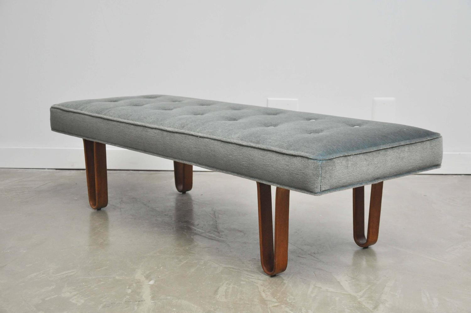 Dunbar long john upholstered bench by edward wormley at 1stdibs Long upholstered bench