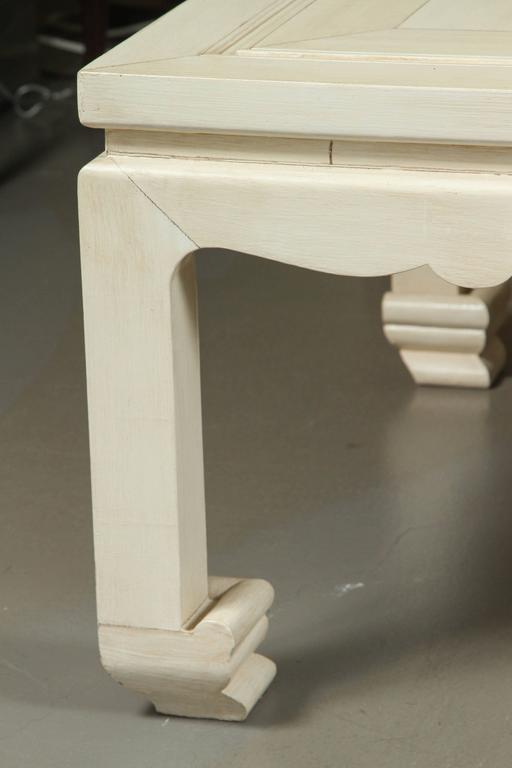 A Vintage MingStyle Coffee Table with a Faux Ivory Inlay Finish