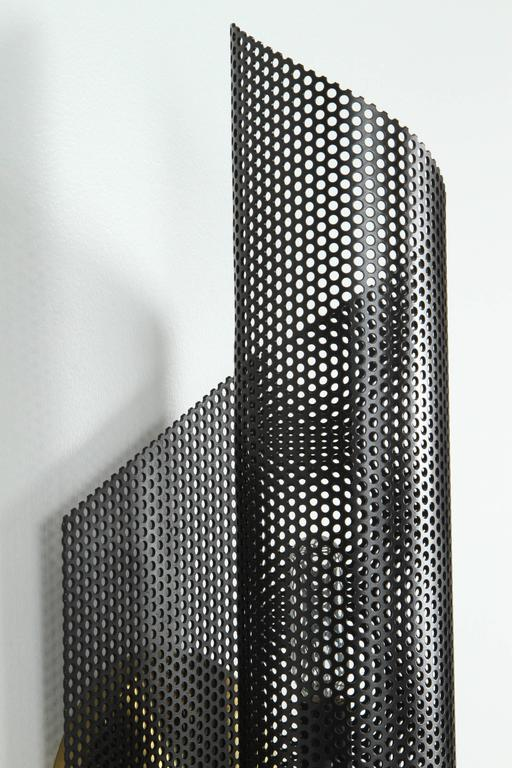 Rolled Perforated Sconce by Lawson-Fenning In Excellent Condition For Sale In Los Angeles, CA