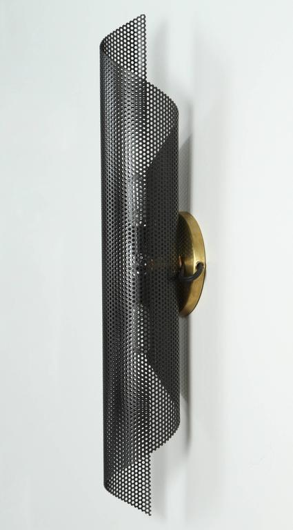 Rolled Perforated Sconce by Lawson-Fenning For Sale 1