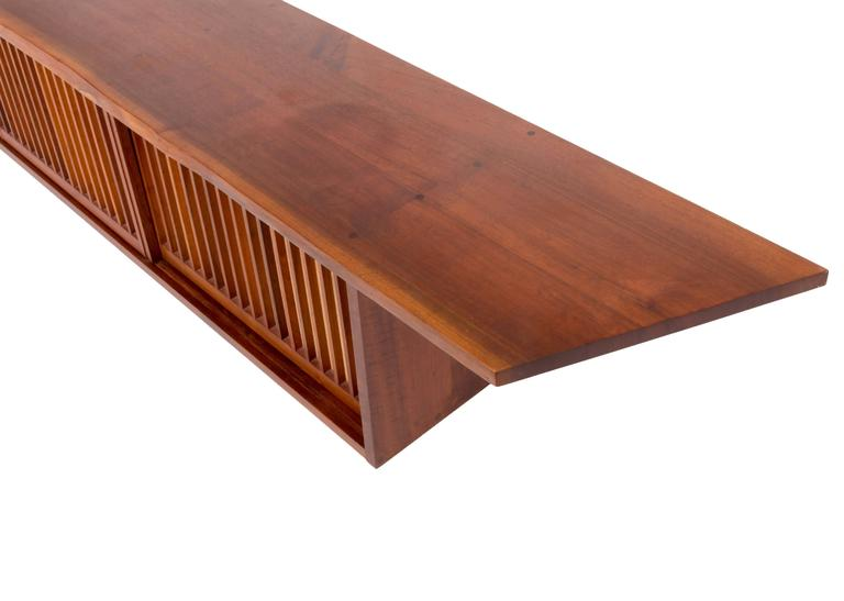 Mid-Century Modern Mid-Century Walnut Wall Cabinet by George Nakashima For Sale