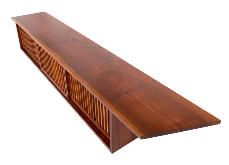 American Mid-Century Walnut Wall Cabinet by George Nakashima For Sale