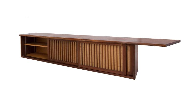 Hand-Crafted Mid-Century Walnut Wall Cabinet by George Nakashima For Sale