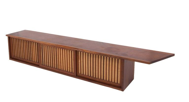 Mid-Century Walnut Wall Cabinet by George Nakashima In Excellent Condition For Sale In Sea Cliff, NY