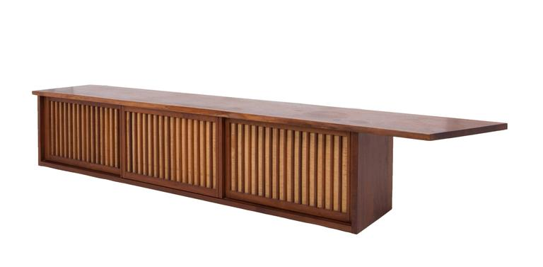 20th Century Mid-Century Walnut Wall Cabinet by George Nakashima For Sale