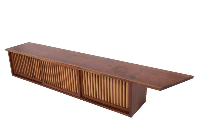 Mid-Century Walnut Wall Cabinet by George Nakashima For Sale 1