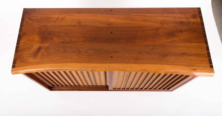 Hand-Crafted Walnut Cabinet by George Nakashima For Sale
