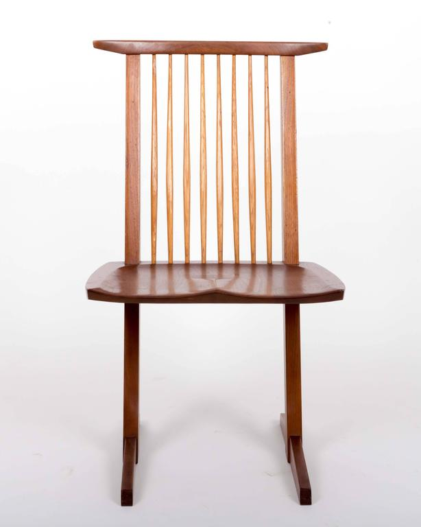 Set of Six Walnut Conoid Chairs by George Nakashima 2