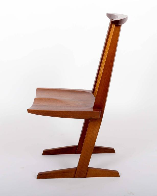 Set of Six Walnut Conoid Chairs by George Nakashima 3