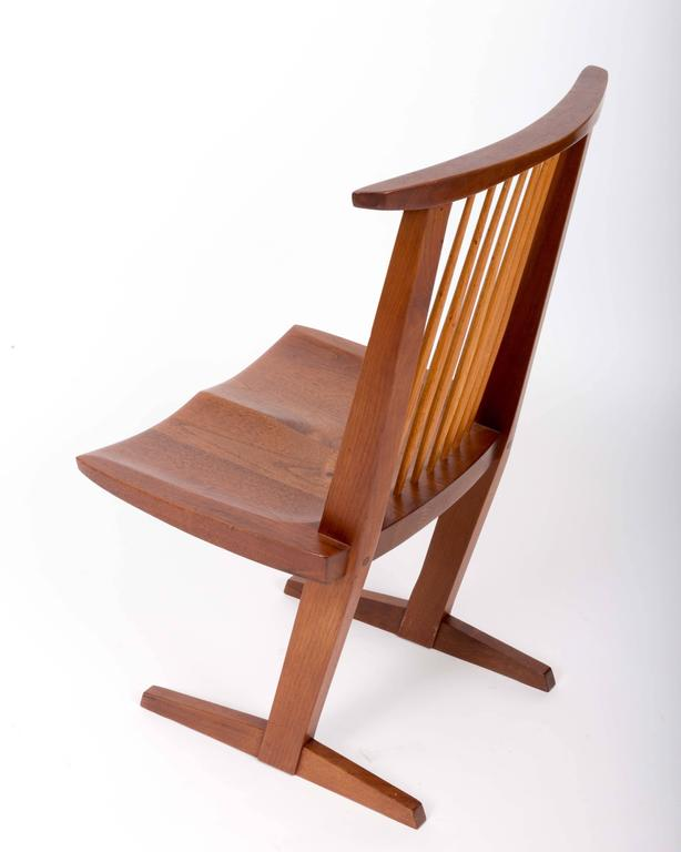 Hand-Crafted Set of Six Walnut Conoid Chairs by George Nakashima For Sale