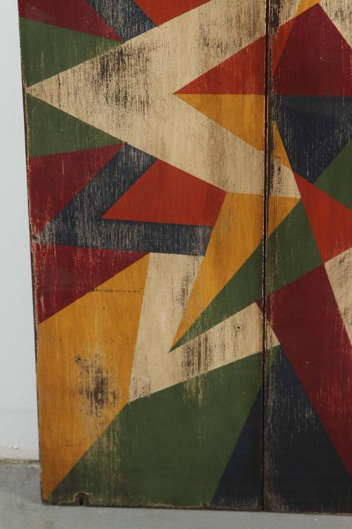 Anonymous Abstract Geometric Painted Board 6