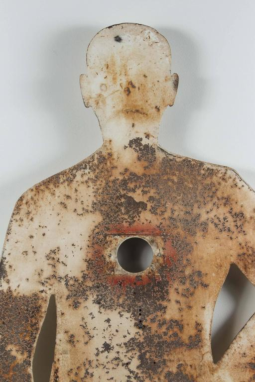 1950s Human Form Two Sided Heavy Sheet Iron Shooting Target 6