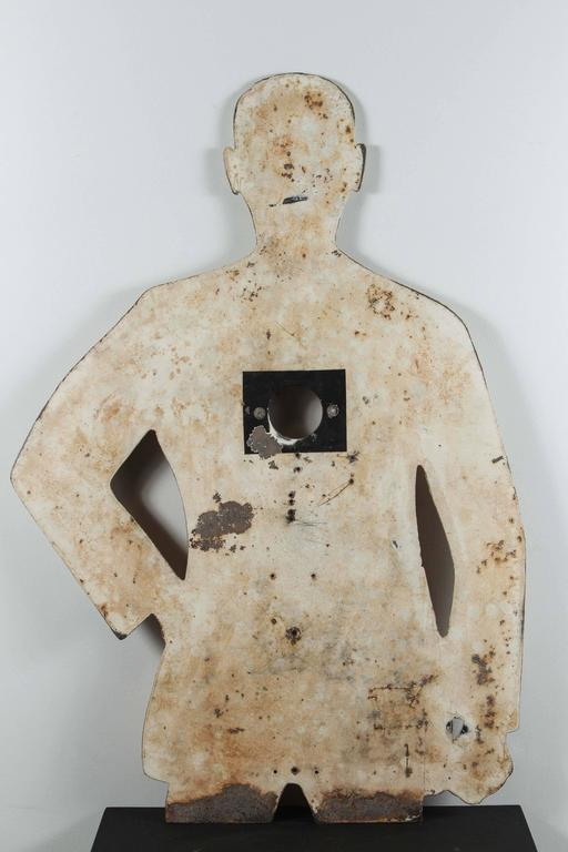 1950s Human Form Two Sided Heavy Sheet Iron Shooting Target 7