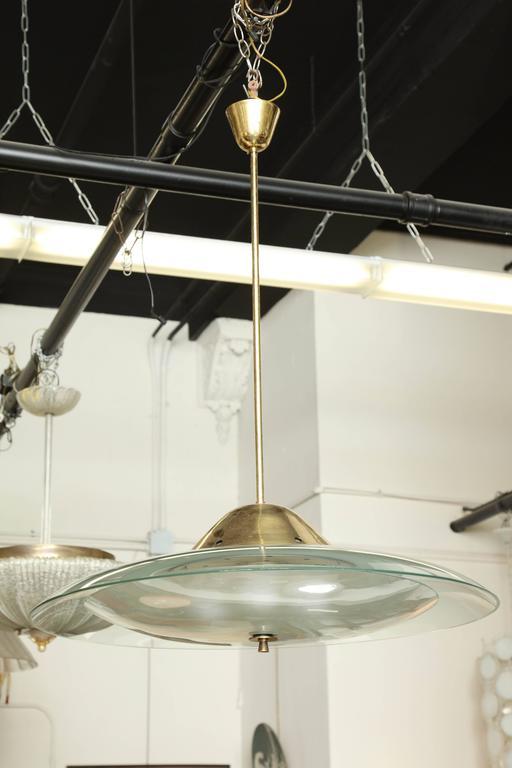 fontana arte chandelier made in milan at 1stdibs. Black Bedroom Furniture Sets. Home Design Ideas