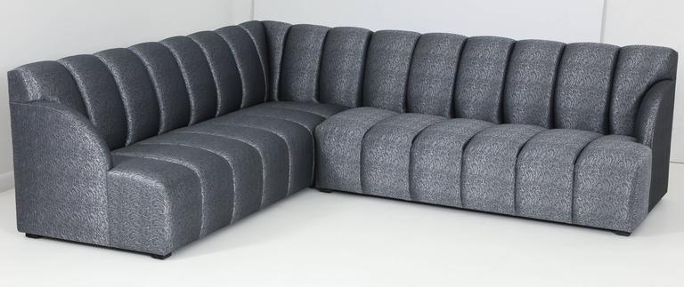 Modern Channel Tufted Sectional Sofa Designed By Iconic California Designer  Steve Chase. Sofa Features New