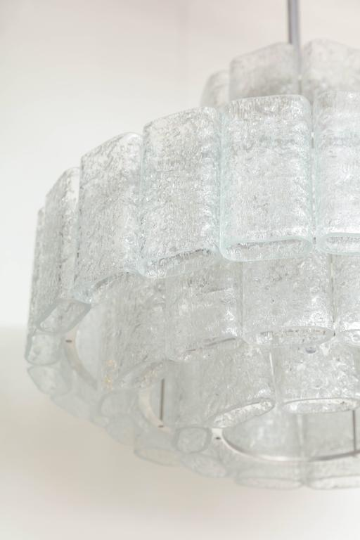 20th Century Doria Four-Tier Ice Glass Chandelier For Sale