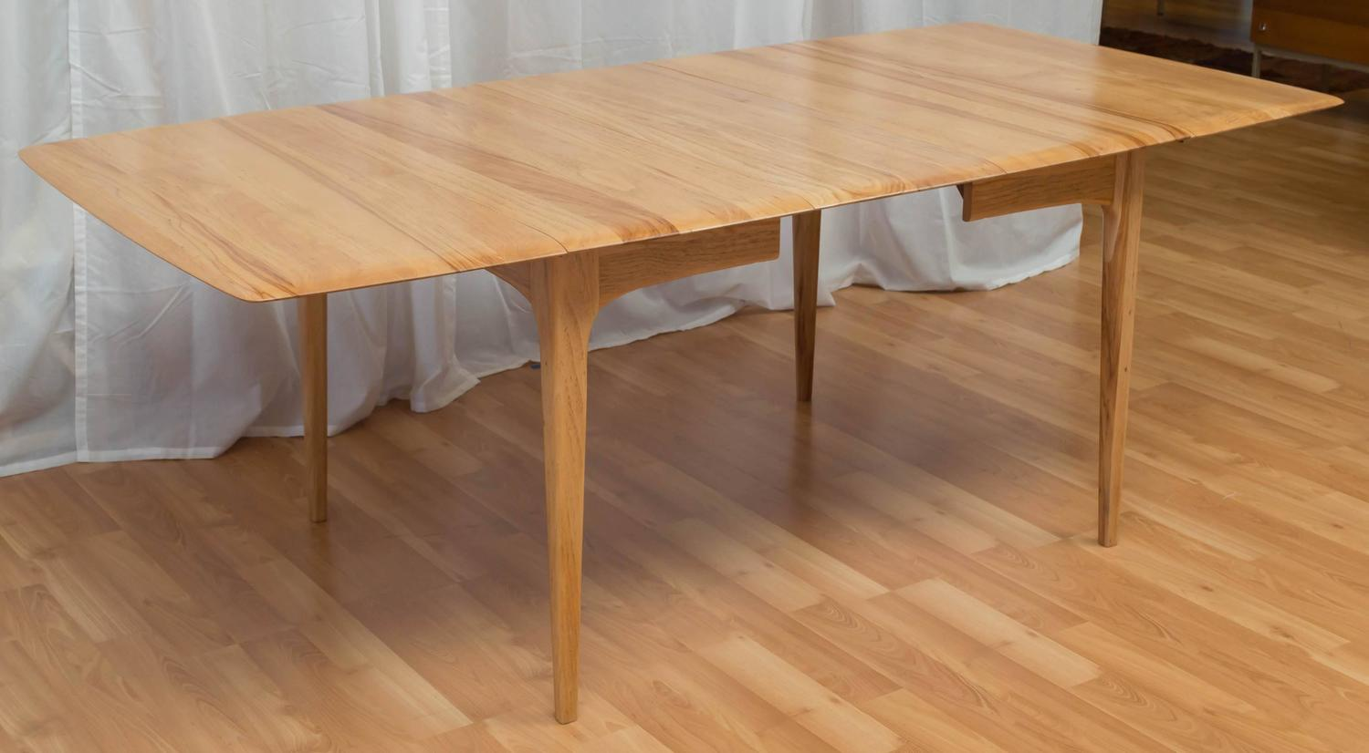 wood drop leaf dining table in the manner of heywood wakefield image 3