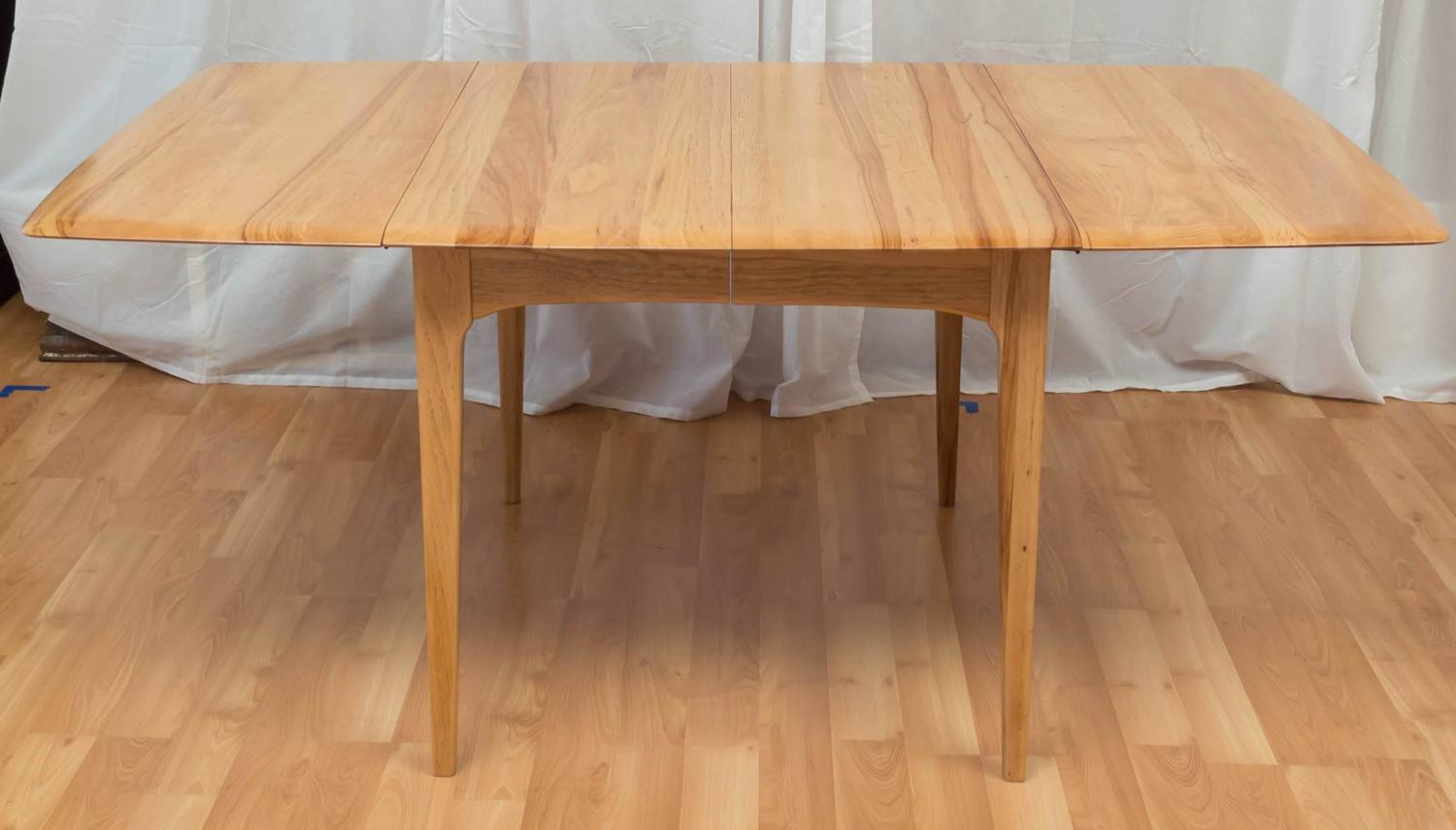 Hickory Dining Room Table Hickory Wood Drop Leaf Dining Table In The Manner Of Heywood